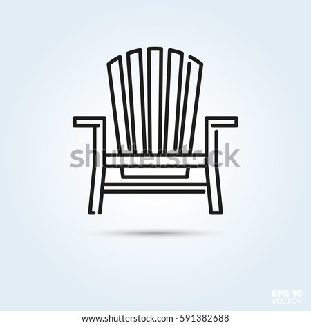 Deck Chair Line Icon Vector Summer Stock Vector 591382688 - Shutterstock