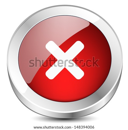 Decline button - stock vector