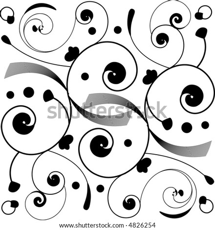 Deco inspired vector scrollwork for corners, borders, tattoos and decorations. - stock vector