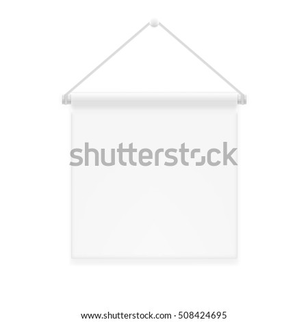 Decor Advertising Shield Canvas Fabric Wall Stock Vector 508424695