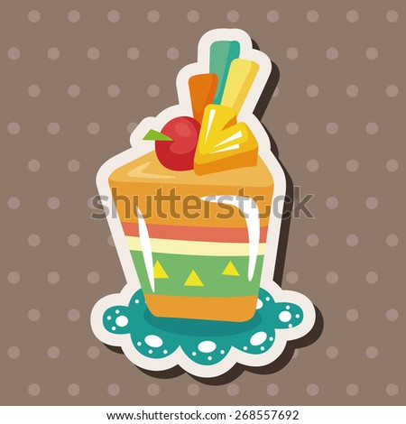 decorating cake theme elements