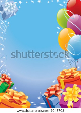 Decoration ready for birthday and party, vector - stock vector