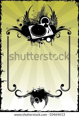 decoration turntable - stock vector