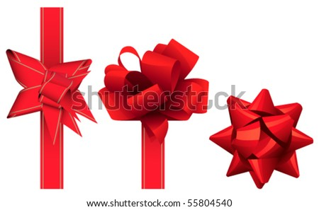 Decorations for presents - stock vector