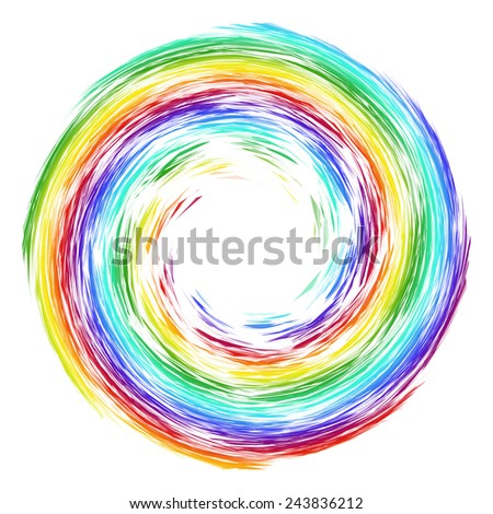 Decorative abstract background with colored circular element - stock vector