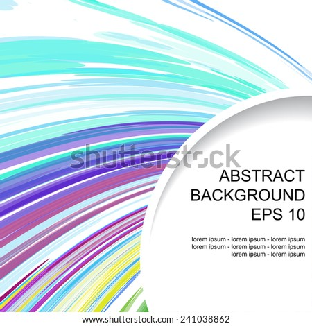 Decorative abstract colored background with corner element  - stock vector