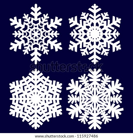Decorative abstract snowflake. - stock vector