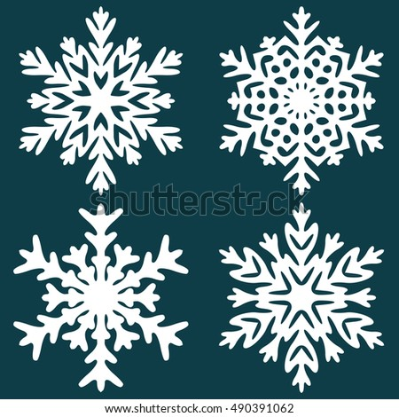 Decorative abstract snowflake. Decorative snowflaker. Snowflaker. Winter snowflaker. Christmas snowflaker. Vector illustration.