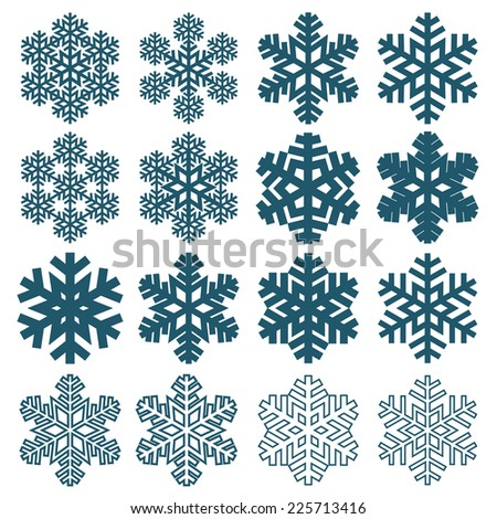 Decorative abstract snowflake. Vector illustration - stock vector