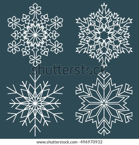 Decorative abstract snowflake. Vector illustration. Decorative abstract snowflake. Paper snowflaker. Winter snowflaker. Christmas snowflaker.