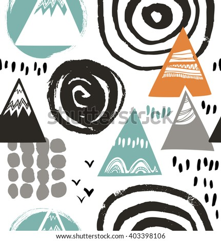 Decorative abstract texture. Vector background with artistic elements. Drawn pattern. - stock vector