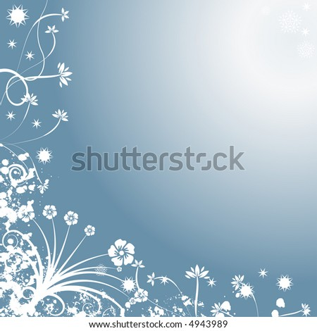 Decorative abstract winter vector background
