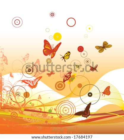 decorative background - stock vector