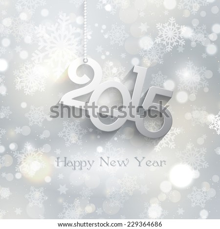 Decorative background for a Happy new year - stock vector