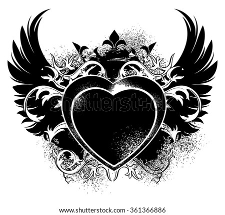 decorative background for Valentine's Day with an image of the heart