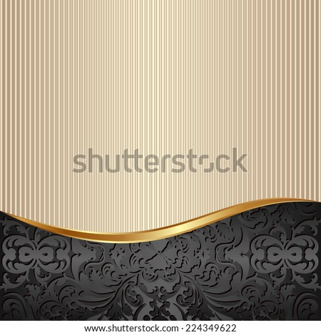 decorative background with abstract pattern - stock vector