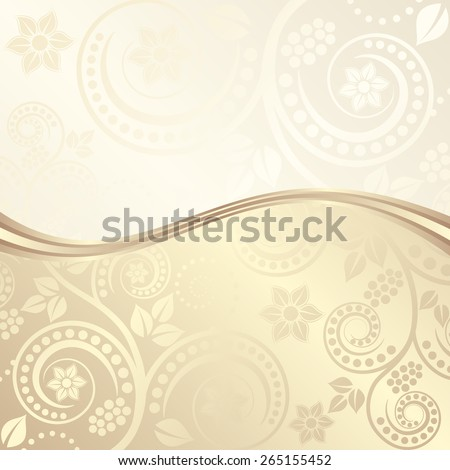 decorative  background with floral ornaments - stock vector