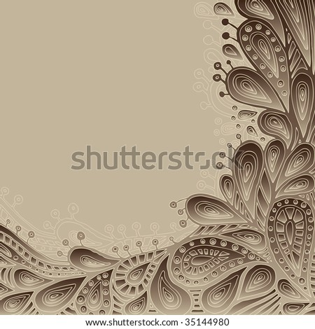 Decorative Background With Space For Text (vector). In the gallery also available XXL jpeg image made from this vector