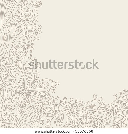 Decorative Background With Space For Text (vector). In the gallery also available XXL jpeg version of this image. - stock vector