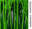 Decorative bamboo.Vector background in asian style - stock photo
