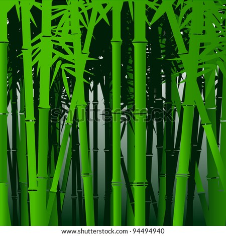 Decorative bamboo.Vector background in asian style - stock vector