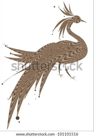 Decorative Bird (abstract vector) - stock vector