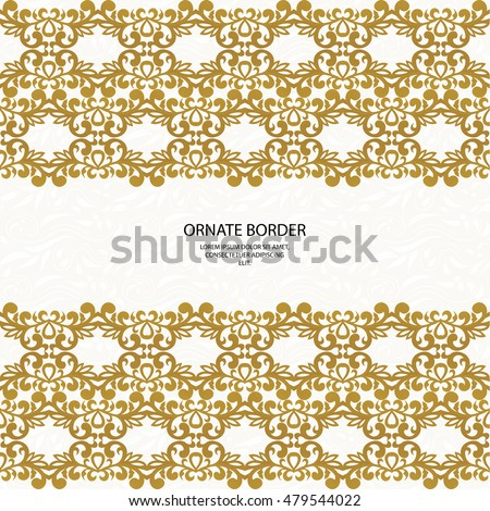 Decorative Borders Seamless Classic Pattern Graphic Stock Vector HD ...