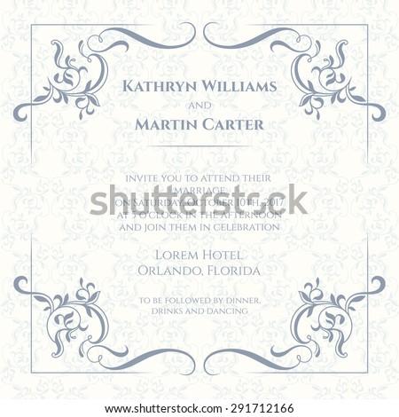 Invitation Card Design Images RoyaltyFree Images Vectors – Designs for Invitation Cards