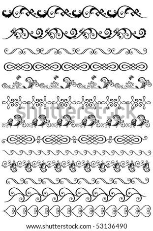 Decorative borders for design - stock vector
