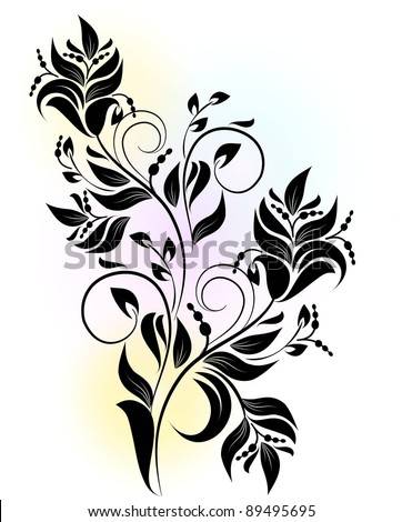 decorative branch - stock vector