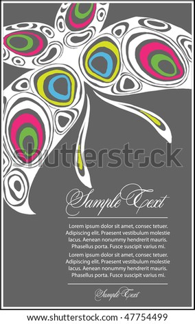 decorative butterfly - stock vector