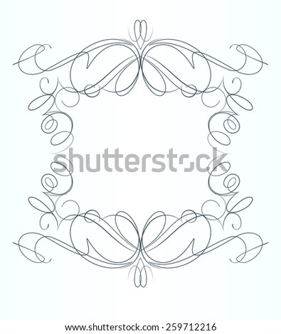 Decorative calligraphic vector frame. - stock vector