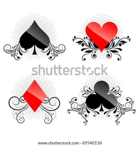 decorative card symbols - stock vector