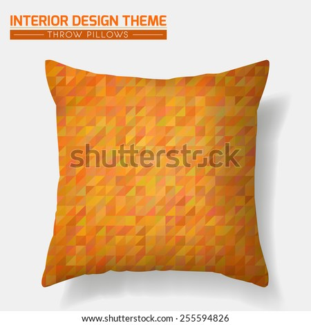 Decorative Cheerful Throw Pillow Set Matching Stock Vector 214624972 - Shutterstock