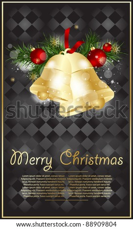 Decorative Christmas background, vector illustration. - stock vector