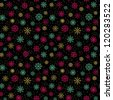 Decorative colorful seamless pattern with ornamental snowflakes. Endless festive texture. Template for design wrapping paper, textile, package, greeting cards - stock vector