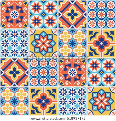 Spanish tile stock images royalty free images vectors for Tile fashion
