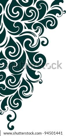 decorative corner - element for design in vintage style - stock vector