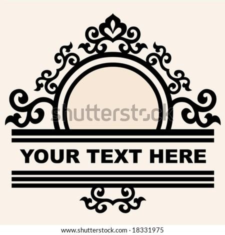 decorative curly design - stock vector