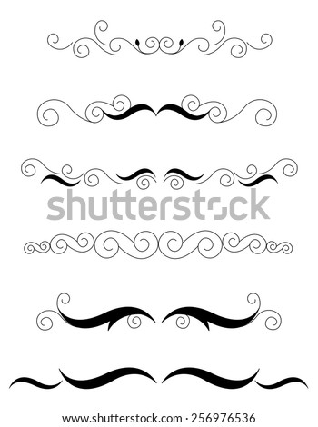 Decorative design elements / dividers for Wedding invitation/ anniversary backgrounds can be use to decorate wedding , anniversary, valentines day, mother's day party invitation / cards. - stock vector