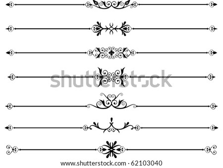 Decorative design elements or rule lines - stock vector