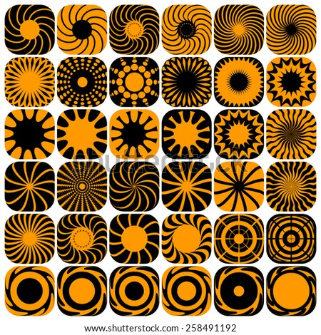 Decorative design elements. Patterns set. Vector art. - stock vector