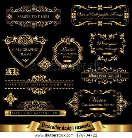 Decorative design elements set 1 - stock vector
