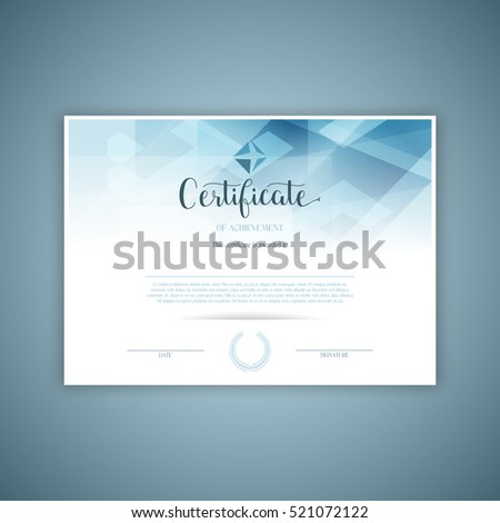 Decorative design for certificate or diploma