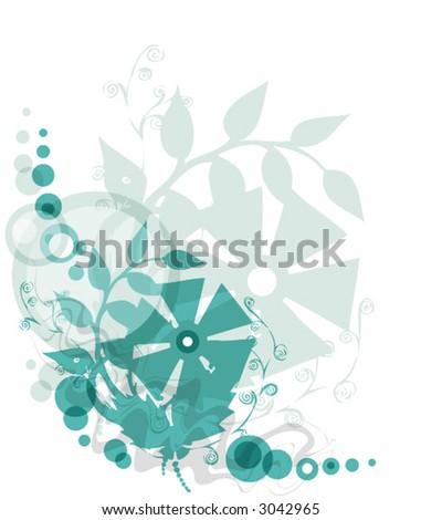 Decorative designed floral background (vector illustration) - stock vector