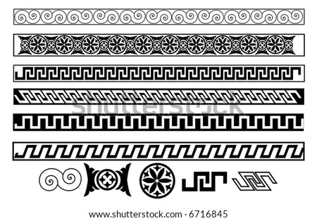 decorative designs, ornaments and icons - stock vector