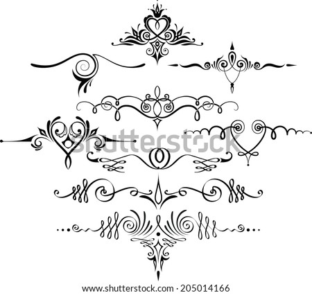 Decorative dividers - stock vector