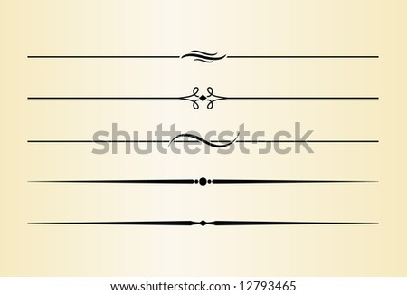 Decorative Dividers and Accents #7 - stock vector