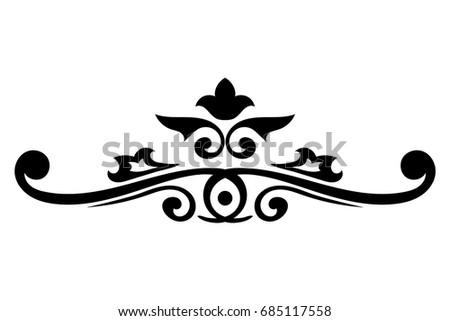 decorative dividers vintage ornaments vector illustration stock rh shutterstock com ornamental vectors ornamental vector art
