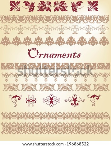 Decorative elements and borders